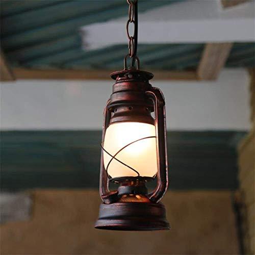 XXYHYQHJD Lámpara, Linterna Retro Vintage, Antiguo Hierro 14cm * 80cm Colgante de luz
