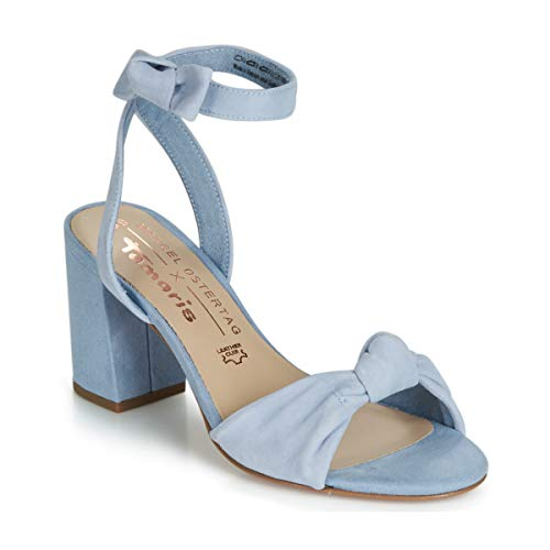 Tamaris HEITI Sandalen/Sandaletten Damen Blau - 40 - Sandalen/Sandaletten