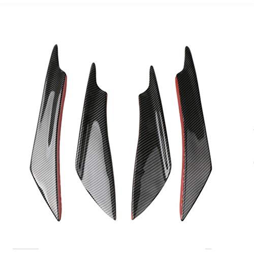 VIKEP Parachoques delantero del coche divisor reborde del difusor for Opel Astra H Gtc Peugeot 207 Megane 2 VW Golf 7 Cívico A6 C6 Opel Estilismo de coche (Color : Carbon fiber black)