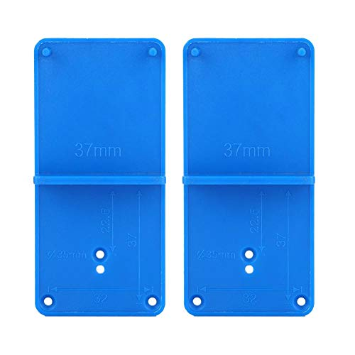 Drilling Guide Locator, 2pcs Hinge Hole Opener Template for Door Cabinet Assemble Perfectly Locate The Holes for Hinges and Drawer Guides Template