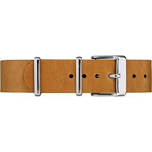 Timex TW7C10900 18mm Tan Genuine Leather Double-Layered Slip-Thru Strap