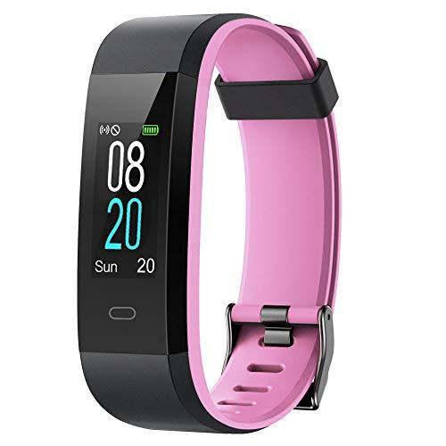 YAMAY Fitness Tracker,Smartwatch Wasserdicht IP68 Fitness Armband mit Pulsmesser 0,96 Zoll Farbbildschirm Aktivitätstracker Pulsuhren Schrittzähler Uhr Smart Watch Fitness Uhr für Damen Herren