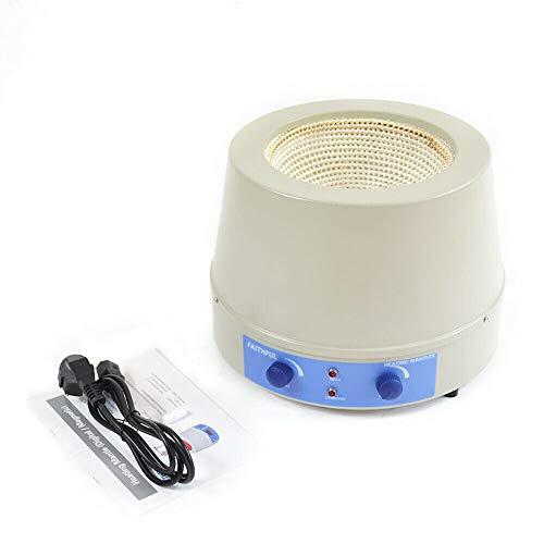 Calentador de laboratorio de 2000 ml con agitador magnético, agitador de calor magnético, temperatura máxima de 450 °C, termostato ajustable, herramienta para campana de calefacción