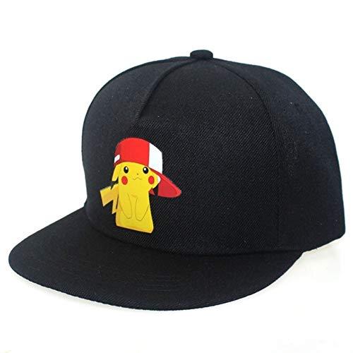 GZSC Chapeau Nouveau Dessin Animé Anime Pokemon Pikachu Logo Impression Casquettes de Baseball Hip-Hop Cap for Hommes Femmes Unisexe D'été Soleil Chapeaux Réglable (Color : 01)