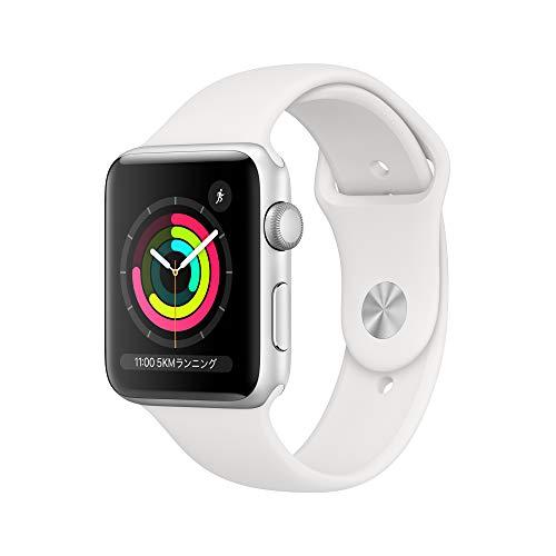 Apple Watch Series 3(GPSモデル)- 42mmシルバーアルミニウムケースとホワイトスポーツバンドMTF22J/A