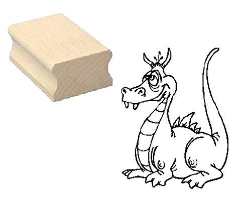 Stempel lustiger DRACHE - Motivstempel aus Buchenholz