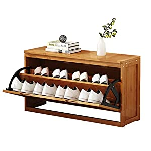 Afswswf Zapatero, Zapato Banco de Almacenamiento con Flip-cajón, Zapato de Madera de gabinete en Rack con los Asientos, for Pasillo Dormitorio Sala de Estar (Size : 80cm)