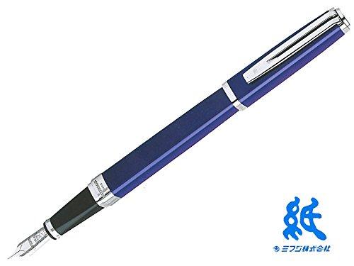 【万年筆】WATERMANウォーターマン EXCEPTIONエクセプション・スリム ブルーラッカーST 万年筆 (ペン先 M) 18金ペン先