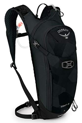 Osprey Siskin 8 Men's Hydration Pack with 2.5L Hydraulics™ LT Reservoir - Obsidian Black (O/S)