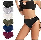 Women's Hipster Panties Lace Underwear Low-Rise Soft Cotton Stretch Bikini Underwear Briefs 6 Pack (Red+Multicolor, L) -  eletecpro