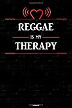 Reggae is my Therapy Notebook: Reggae Heart Speaker Music Journal 6 x 9 inch 120 lined pages gift