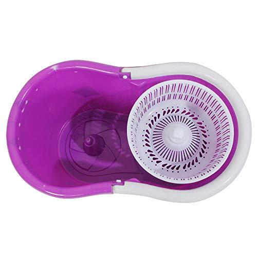 GOPLUS en Microfibre Spining Magic Spin Mop Seau W/2têtes Rotatif à 360° Facile Serpillère Décontracté 18'×12'×11' (L×W×H) Violet