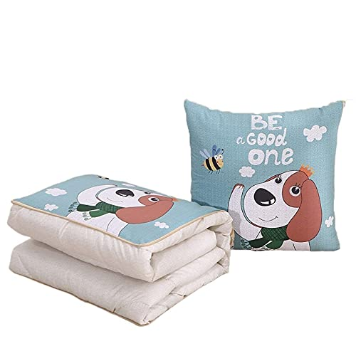 JONJUMP Multifuncional manta plegable almohada cojín algodón para sofá cama coche viajes dibujos animados cojines edredón mantas