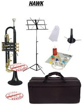 Hawk Black Bb Trumpet School Package Trump Case with shop Stand Boston Mall Music