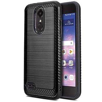 CasemartUSA Phone Case for [LG REBEL 4 LTE  L212VL L211BL ] [Modern Series][Black] Shockproof Cover Impact Resistant Defender for Rebel 4 LTE  Tracfone Simple Mobile Straight Talk Total Wireless