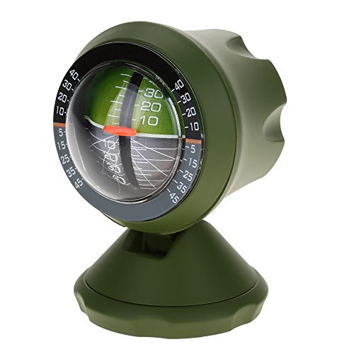 Alomejor Inclinómetro del Coche Brújula Ángulo Ángulo Medidor de Nivel Buscador de Herramientas Balanceador Equipo de medición para vehículo de automóvil