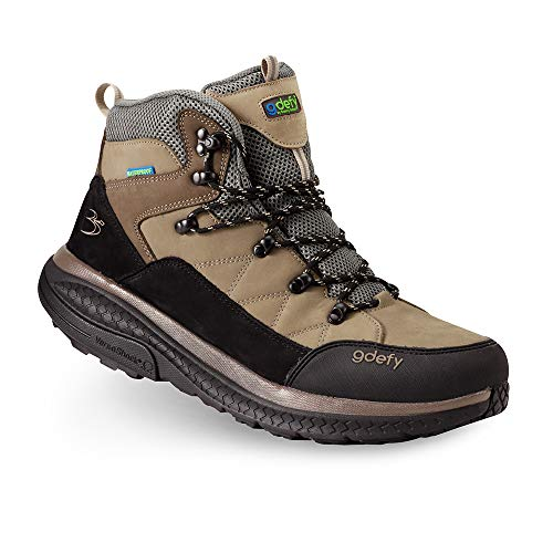 Gravity Defyer Men's G-Defy Sierra Hiking Shoes 9.5 M US-Best Hiking Boots Foot Pain, Knee Pain, Back Pain, Plantar Fasciitis Shoes Brown