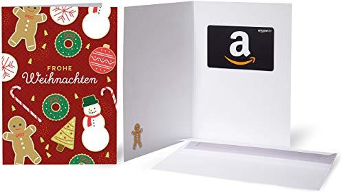 Amazon.de Geschenkkarte in Grußkarte (Weihnachtsplätzchen)
