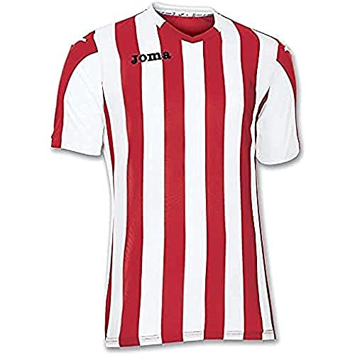 Joma Copa Camiseta de Equipación de Manga Corta, Hombre, Rojo Blanco, L
