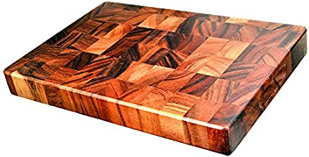 Davis & Waddell D3152 Acacia Wood End Grain Cutting Board, Natural
