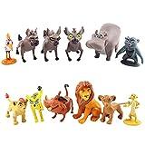 Lion King Cake Toppers, Lion King Figure, Mini León Adornos Para Tartas, León Juego De Figuras, Pastel Decoración Suministros, Cumpleaños Decoración De Tartas, 12 Piezas