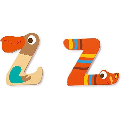 SCRATCH Alle andere mobiliteiten, decoratie en opslag voor kinderen SCRATCHScratch Deco: Wooden Letter 'Z', 2 asstd, stijlen, 3 lijm included, op kaart, meerkleurig (meer dan een)