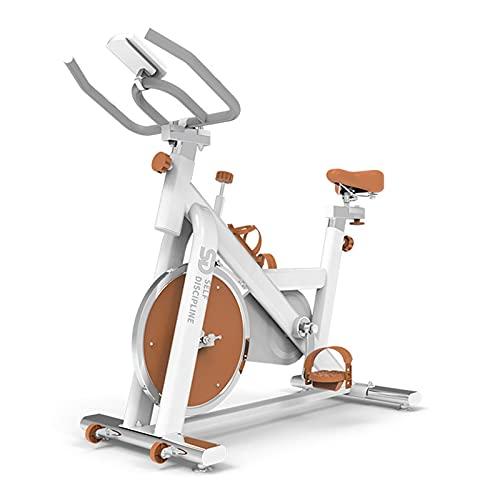 LHQ-HQ Bicicleta de Ciclismo para Interiores estacionaria con Monitor Bicicleta de Ejercicio con transmisión por Correa silenciosa Bicicleta de Entrenamiento con cómodo cojín