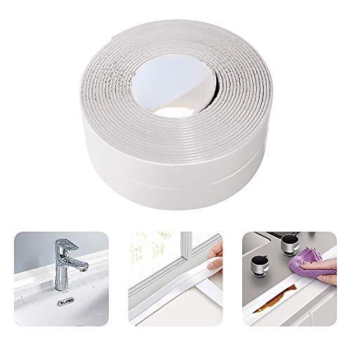 Caulk Strip, Self Adhesive Caulking Seal Tape for Bathtub Bathroom Kitchen Shower Toilet and Wall Sealing