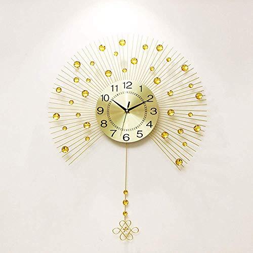 Moderna Sala De Estar De Estilo Europeo Reloj De Pared Mudo Reloj Creativo Reloj De Reloj De Dormitorio Personalidad Pastoral Swing Decorativo