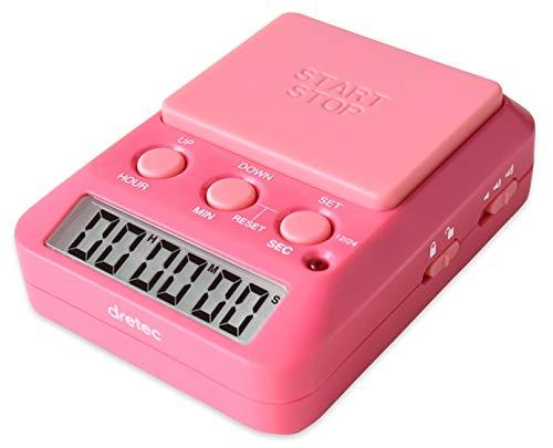 【改良版】dretec(ドリテック) 勉強タイマー タイムアップ2 消音 T-587PK2 ピンク