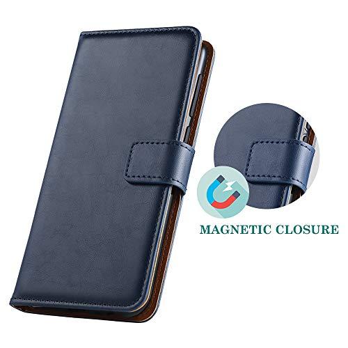 GeeRic Kompatibel Für Huawei Y6 2019 Hülle, [Standfunktion] [Kartenfach] [Magnet] [Anti-Rutsch] PU-Leder Schutzhülle Brieftasche Handyhülle Kompatibel Mit Huawei Y6 2019 Blau - 5