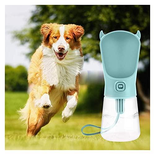 Botella de agua de la botella de agua de la botella de agua para mascotas de calidad alimenticia Botellas de agua para perros de mascotas con filtro 350 ml para perros gatos botellas de agua de viaje
