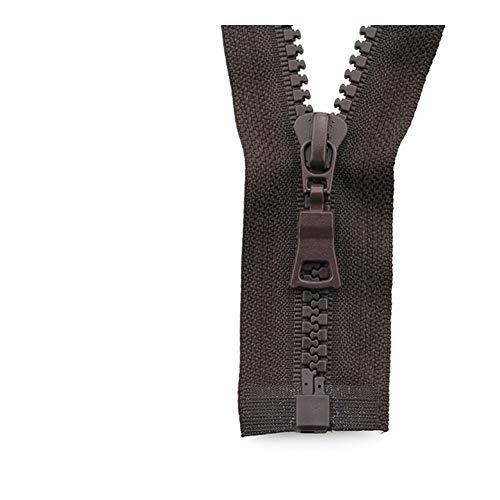 Linyuex Zipper 5# 3pcs Open-end Auto Lock ECO Colorful Plastic Resin Zipper For Clothes Garment (Color : 11, Size : 55 cm)