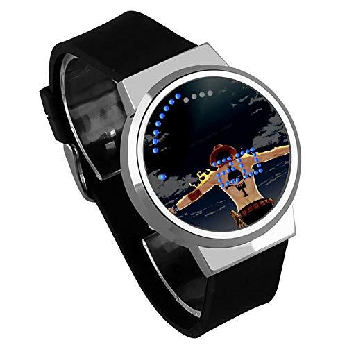 Relojes Hombre,Tendencia Pantalla Táctil Led Reloj One Piece Anime Periférico Impermeable Luminoso Reloj Electrónico Regalo Creativo A