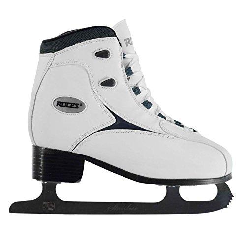 Roces Damen RFG1 Schlittschuhe Eislauf Eislaufen Wintersport Schnürsenkel Weiß 8 (42)