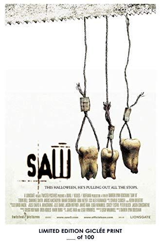 Pósters Perdidos Rare Póster Grueso de Horror Saw III Jigsaw 2006 película reimpresa #'d/100!! 12x18