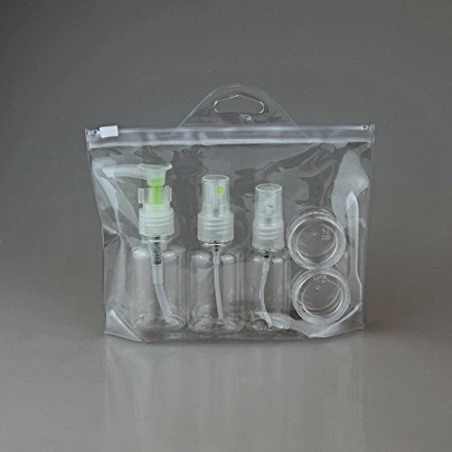 Msmask 5pcs Mini boîtier en plastique transparent Petit parfum Vaporisateur Voyage Kit Nouveau
