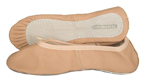 GIMER Scarpette danza da bambina bimba junior baby in pelle scarpe sport articolo 7/189B, 16 Rosa, Taglia 33