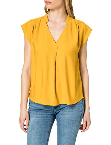 Only Onljosey S/S V-Neck Top Wvn Blusas, Nugget Gold, L para Mujer