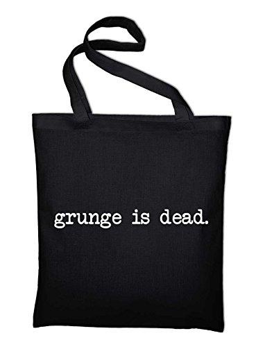 Styletex23 Grunge Is dead Jutebeutel Baumwolltasche, schwarz