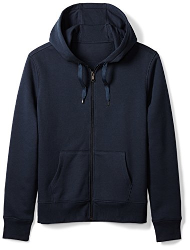Amazon Essentials Men's Full-Zip Hooded Fleece Sweatshirt, Navy, Large