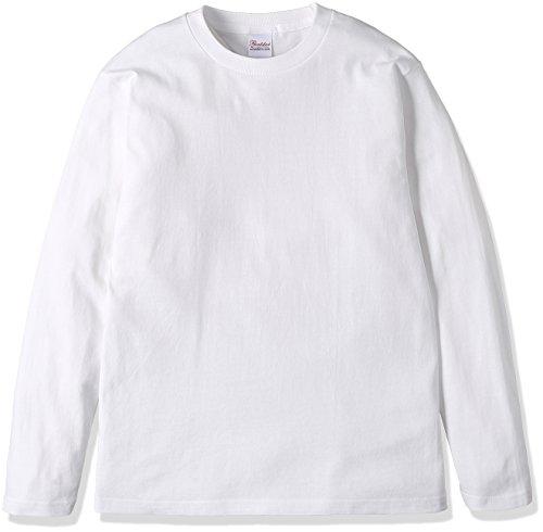 [プリントスター] 長袖 5.6オンス ロングスリーブ Tシャツ(リブ無) 00101-LVC メンズ ホワイト 110cm (日本サイズ110 相当)