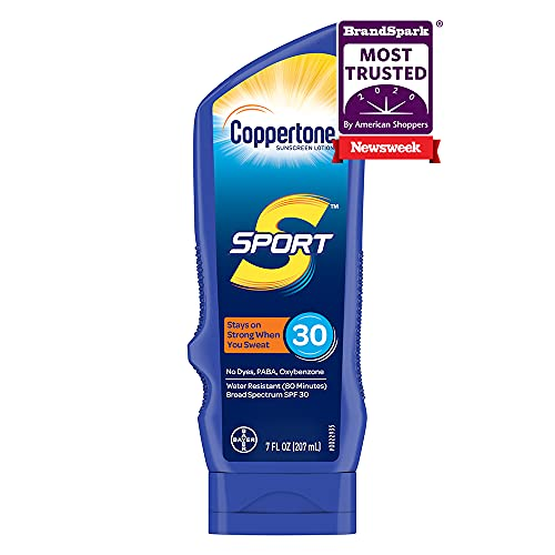 Coppertone SPORT Sunscreen Lotion Broad Spectrum SPF 30 (7 Fluid Ounce) (Packaging may vary)
