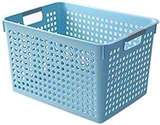 Lpiotyucwh Paniers et Boîtes De Rangement, Paniers pour Organiser 1 pcs (Bleu, Blanc), Taille: 27 * 18.3 * 14.1cm, 35.3 * ...