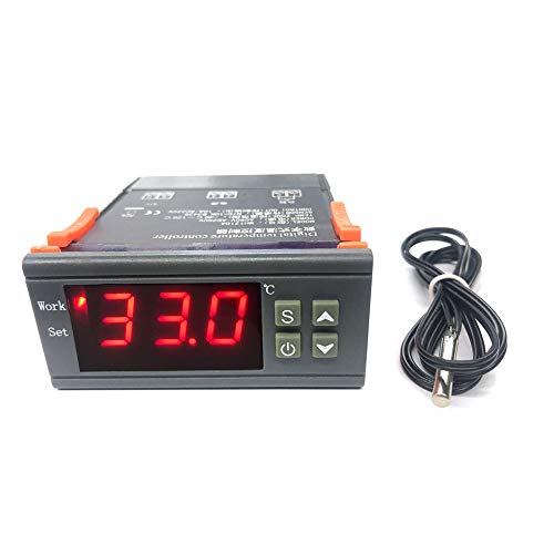 MH-1210A Controlador de Temperatura Digital Inteligente de Alta precisión Sensor NTC de calefacción/refrigeración Control de Temperatura Regulador del termostato con Sensor