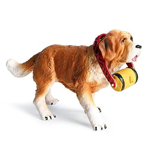 Hging Modelo de Perro Juguete Mejor en Mostrar □ Saint Bernard Dog □ Modelo de figurilla de Juguete Pintado a Mano Realista, para Mayores de 3 años, niños y niñas, Mejores r