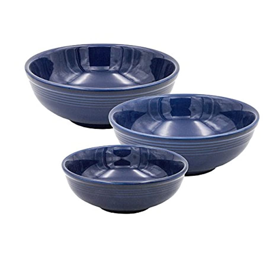 Tuxton Home Concentrix Serving Bowls Ceramic, 35oz/58oz/75.5oz, Cobalt Blue; Heavy Duty; Chip Resistant; Lead and Cadmium Free; Freezer to Oven Safe up to 500F
