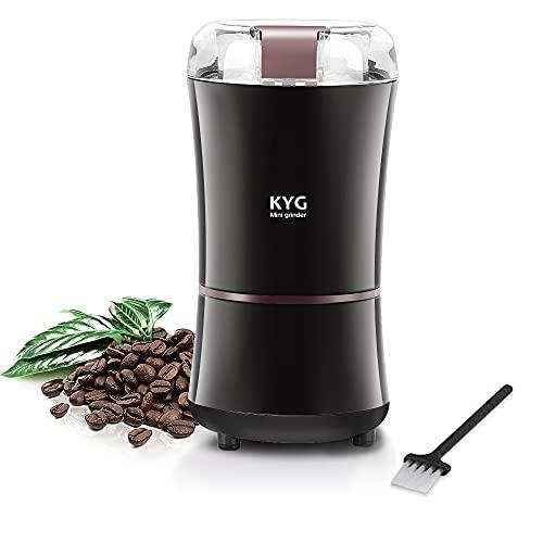 Molinillo Eléctrico de Café Semillas Especias Frutos Secos Molinos de Cuchillas Acero Inoxidable de 300W Potencia Muele...