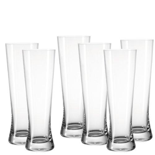 Leonardo Bionda Bar Weizenbierglas, 6-er Set, 500 ml, spülmaschinenfest, Teqton-Kristallglas, 049496