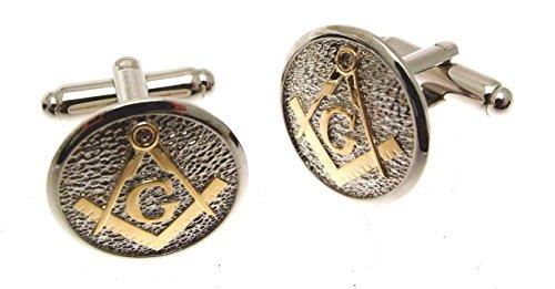 Bijoux pour Homme Maçonnique boutons de manchette dans boîte en bois